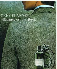 Publicité Advertising 1986 Eau de Toilette Grey Flannel Geoffrey Beene
