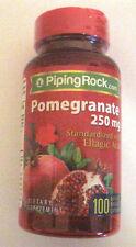 Pomegranate Extract 250 Mg W/ Ellagic Acid 100 Capsules Pills