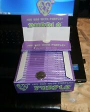 PURPLE CLEAR TRANSPARENT KING SIZE ROLLING PAPERS 50 EXTRA SLIM PAPERS $1.80