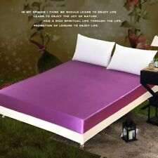 Faux Silk Satin Mattress Protector Cover Anti-mite Bed Soft Sheet Queen King New