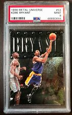 1998 Metal Universe #53 Kobe Bryant Lakers HOF PSA 9 MINT - Freshly Graded slab