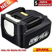 für Makita Akku BL1440 Li-ion 14,4V 4000mAh BL1430 BDF343 196388-5 BL1415 BL1450