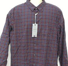 NEW M&S LAUDERED PURE COTTON MEN'S SHIRT TAILORED FIT NAVY CHECK  XXX-LARGE