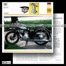 #034.06 NSU 250 MAX 1953 Fiche Moto Motorcycle Card