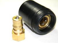 Carpet Cleaning - Quality Brass Quick Disconnect with heat-shield for wand hoses