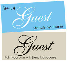 Stencil Guest Wedding Party Cottage Cabin Family Home Room Bath Art Sign U Paint