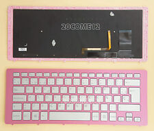 for SONY VAIO Fit 15A multi-flip PC SVF15N KEYBOARD Backlit Spanish Teclado Pink