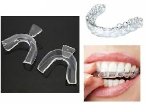 2Pairs Sleeping Mouth Guard Stop Teeth Grinding Anti Snoring Bruxism Eliminates
