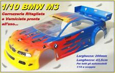 Body Carrozzeria for 1/10 200mm BMW M3 1:10 RC Car Vern.Painted Gialla-Rosso-Blu