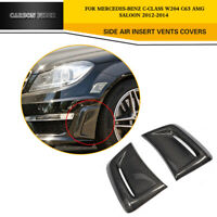 Carbon Fiber Front Bumper Side Air Vents Cover For Mercedes W204 C63 AMG 12-14