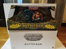 BATTLE RAM with MAN-AT-ARMS MOTUC, MOTU, MASTERS OF THE UNIVERSE CLASSICS CCW01