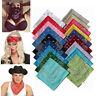 Paisley Bandana Headwear Hair Bands Scarf Neck Wrist Wrap Band Head Tie Color