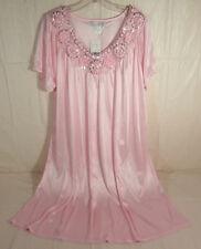 LATI FASHION XL Bright Pink Womens Short Sleeve Nightgown 100% Polyester