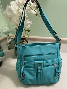 Rosetti Faux Leather Shoulder Bag/crossbody Medium hobo Beautiful Aqua-green