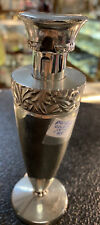 New ListingVintage Chrome Perfume Bottle That You Puh Down Works 51/2 In Tall