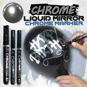 Silver Art Liquid Mirror Chrome Marker Pen 0.7mm 1mm 3mm Multifunction