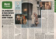 Coupure de presse Clipping 1985 Santa Barbara cherche un Français   (2 pages)