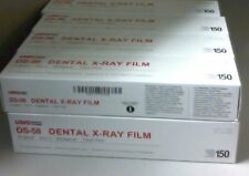 3 Boxes of Dental Umg Ds-58 Size 2 D Speed Adult X-Ray Film 150/Box Vinyl Packin