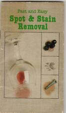 Spot & Stain Removal Fast and Easy Book Vintage