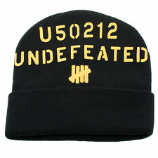 1be294a1260 UNDEFEATED Double Strike Fold Beanie Black One Size Fits All (T17)  28
