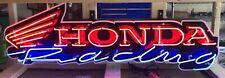 "Neon Signs / 46"" Honda Racing Neon Sign / Honda Racing Sign / Garage Sign Men"