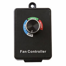 3 Settings Variable Active Air Duct Fan Speed Controller Inline Exhaust 110V 5A