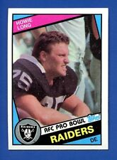 1984 Topps # 111 Howie Long RC  HOF  Oakland Raiders  NM/MT Additional ship free