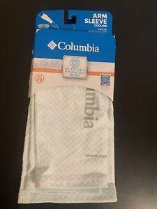 Columbia Freezer Zero Arm Sleeves White Large / XL UPF 50 Sun Protection New