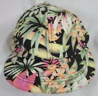 Chrarlotte Russe Hawaiian Floral Print Snap Back Cap FAST FREE US SHIPPING