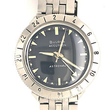 Vintage Bulova Accutron 214HN Astronaut GMT M9 1969 Collectors Watch Black Dial