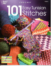 """""""101 EASY TUNISIAN STITCHES""""~Annie's Attic CROCHET PATTERN BOOK ONLY~NEW"""