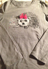 Top girls size 10-12 new 57% cotton 38% polyester 5% spandex Faded Glory grey