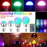 LAMPE SPOT COULEUR E27 E14 RGB LED AMPOULE 3 / 5W + CONTRÔLEUR 110 /220V 1C9F