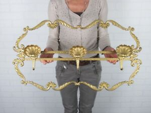 Vintage Hanger Decoration Baroque Golden A 3 Hooks Shell Xx Century