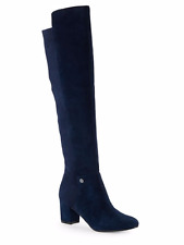 NIB $229 Karl Lagerfeld Chance Over the Knee Boots - Midnight Blue size 6
