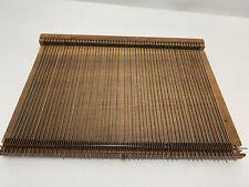 Antique Vintage Tape Loom (?) Wood Loom Weaving Metal Rods Fine Weave