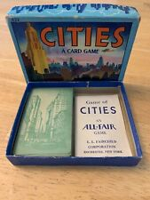 Vintage CITIES Card Game COMPLETE 1932 Edition All Fair / Fairchild Corp. 1930s