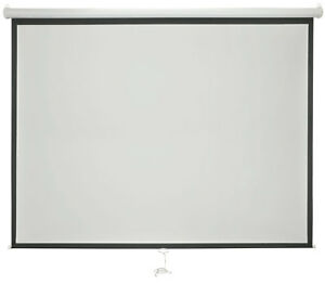 """AV:Link White Manual Projector Screens with Auto Lock Function - 100"""" 4:3"""