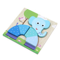 Wooden 3D Puzzle Jigsaw Wooden Toys For Children Cartoon Animal Puzzles S
