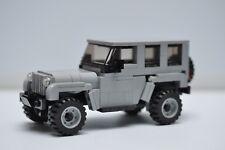 Custom LEGO City Jeep Rubicon Truck Light Grey SUV Speed Champions