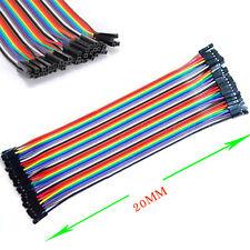 40pcs  2.54mm 20cm Jumper Cable Wire para Arduino Breadboard Hembra a Hembra-c