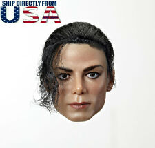 PRE-ORDER 1/6 Michael Jackson Head Sculpt Rooted Hair For Hot Toys Phicen U.S.A.