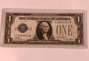 $1 1928 A  FUNNY BACK  Silver Certificate   CRISP!  VGOOD PLUS!   ON SALE!  (13)
