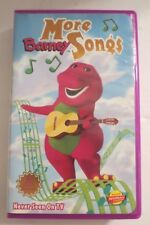 MORE BARNEY SONGS ~VHS, 1999 ~ NEVER SEEN ON TV ~ HARD PLASTIC CASE ~ 1+ SHIP