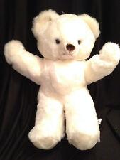 "Vintage White Teddy Bear Soft Plush Squishy Stuffed Excite Animal Holiday  18"""