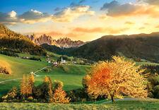 Puzzle Santa Magdalena-DOLOMITI, 3000 parti, Alto Adige, montagne, CLEMENTONI