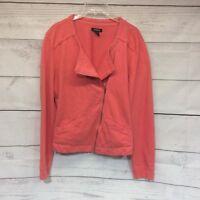 Torrid Cotton Zip Motto Jacket Size 1