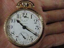 WALTHAM POCKET WATCH 16S VANGUARD  23J DIAMOND END STONE  UP/DOWN RAILROAD