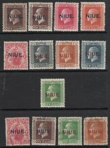 NIUE 1917-21 SET of 9  Mounted Mint + Gum + 4V.F.U   Excellent Looking & Quality