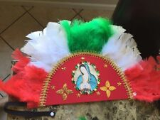 PENACHOS PARA MATACHINES /HEADBAND traditional VIRGEN DE GUADALUPE